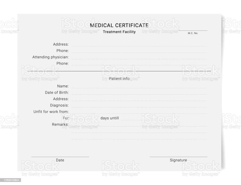 Medical Certificate Template Health Diagnostic Prescription Form Within Free Fake Medical Certificate Template