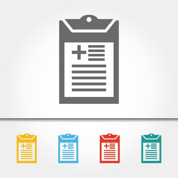 illustrazioni stock, clip art, cartoni animati e icone di tendenza di medical chart single icon vector illustration - scheda clinica