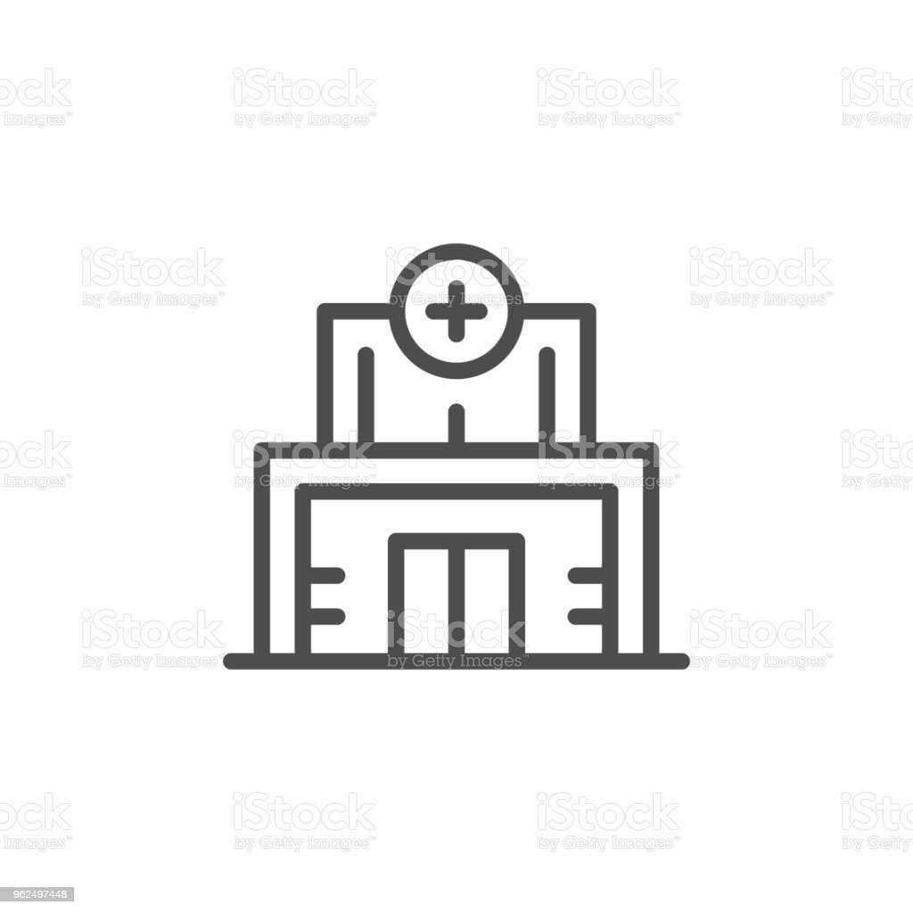Medical clinic line icon - Royalty-free Accidents and Disasters stock vector