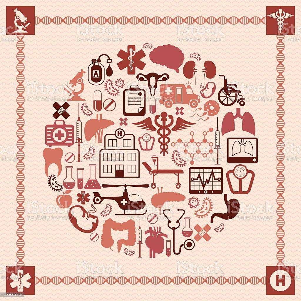 Medical Collage vector art illustration