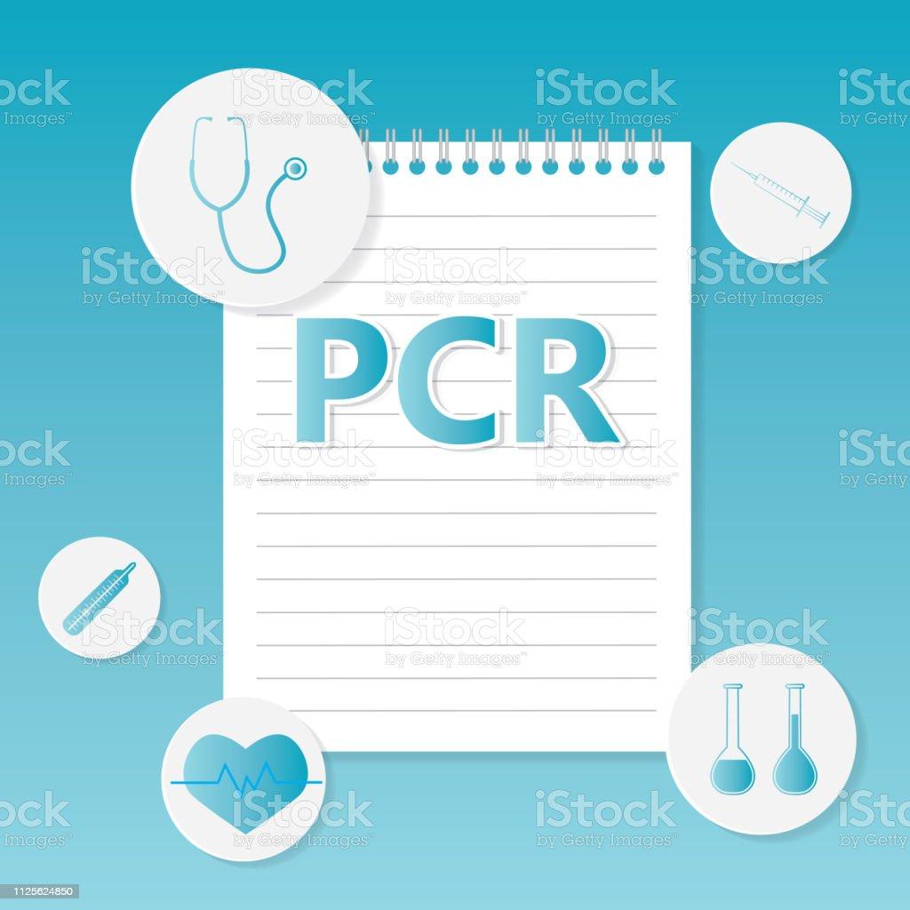 PCR (Polymerase Chain Reaction) medical concept vector art illustration