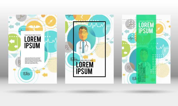 Medical cover design template vector art illustration