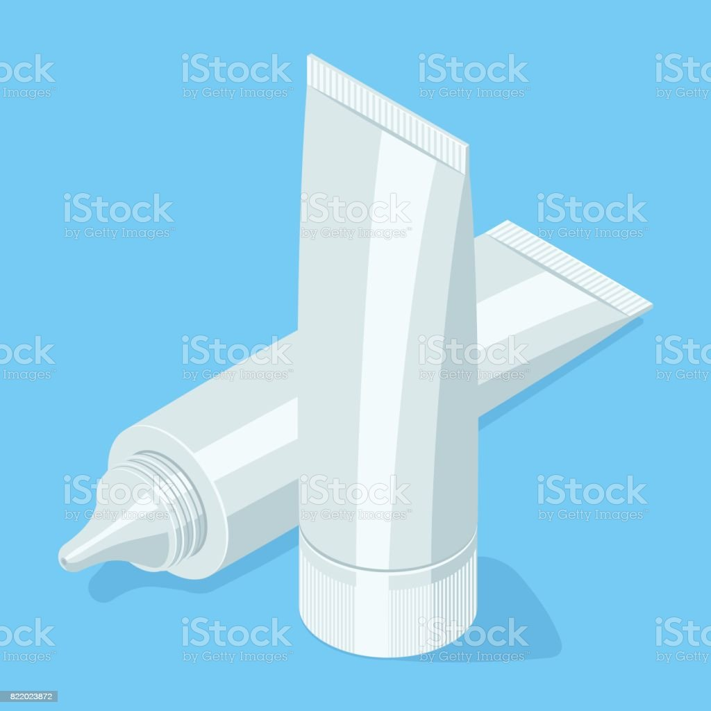 Medical cream gel tube. vector art illustration