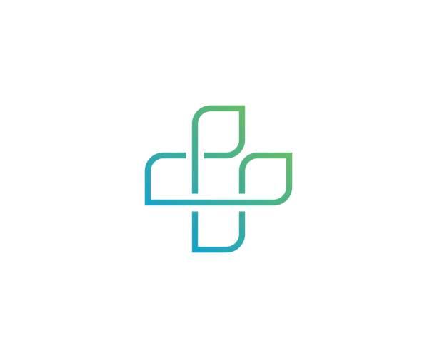 illustrazioni stock, clip art, cartoni animati e icone di tendenza di medical cross icon - croce farmacia