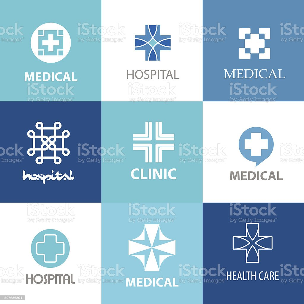 medical crosses vector art illustration