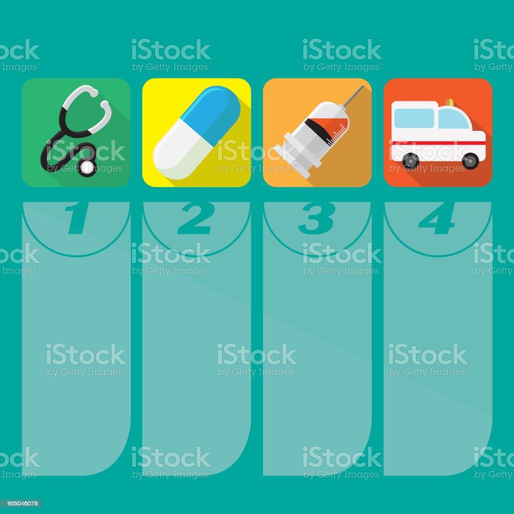 Medical design over beige background, vector illustration vector art illustration
