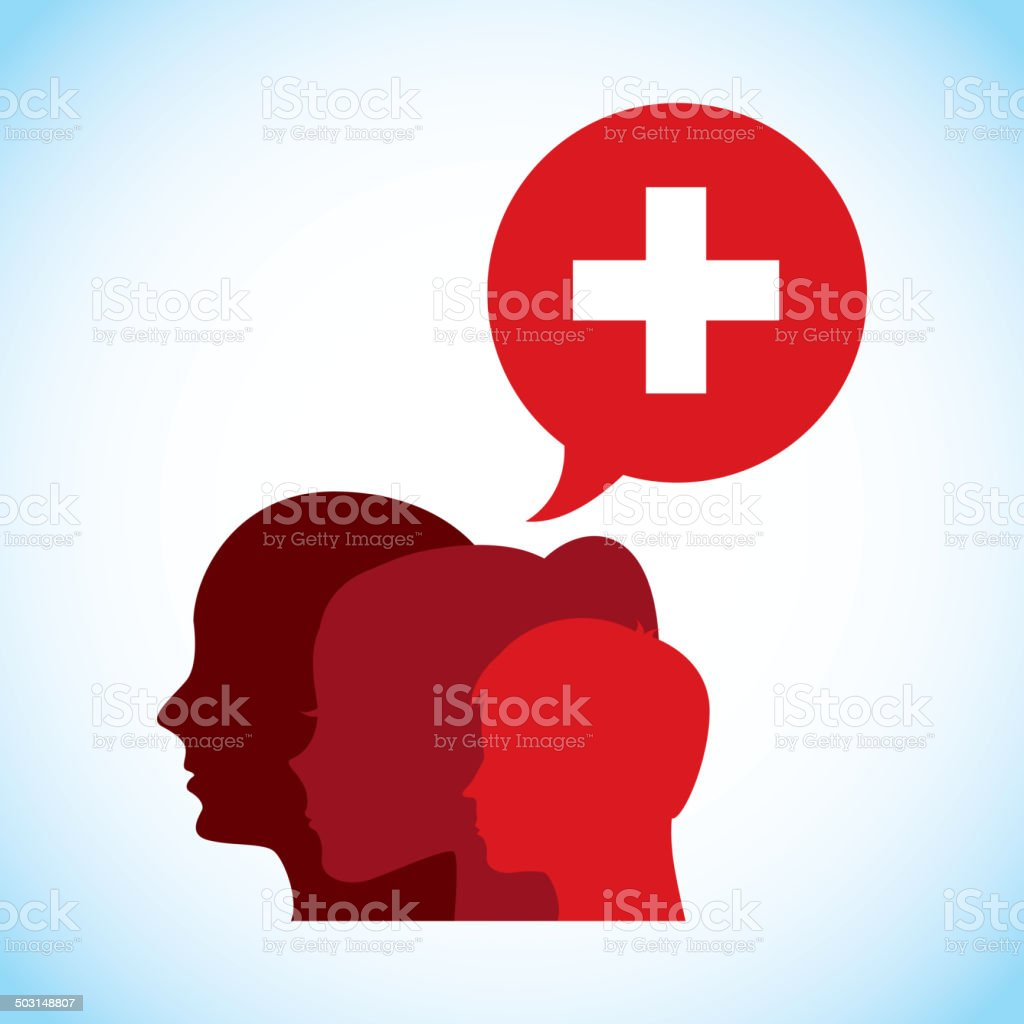 Medical design vector art illustration