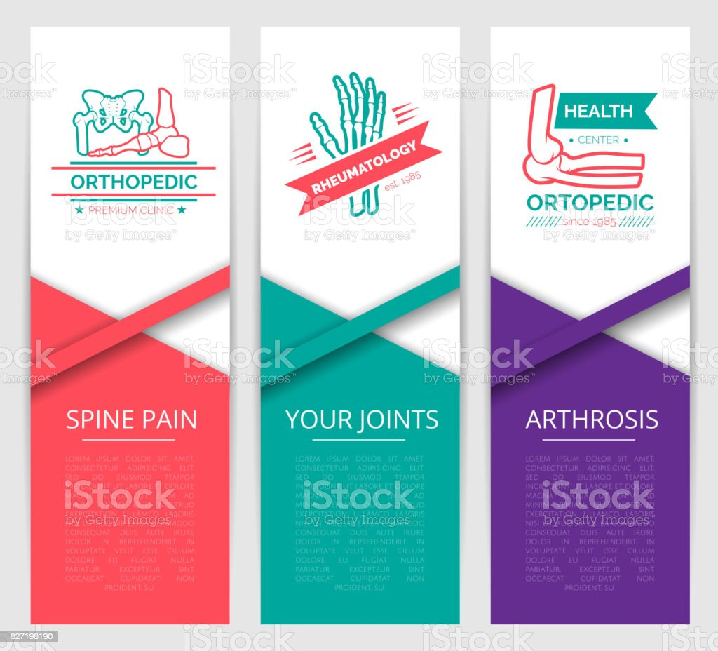 Medical diagnostic clinic banner template design vector art illustration