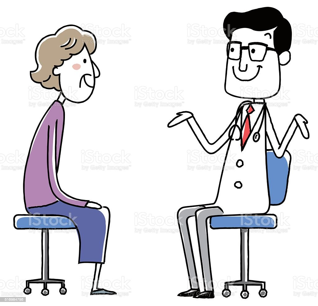 medical doctor. Examination of the elderly woman. vector illustration. vector art illustration