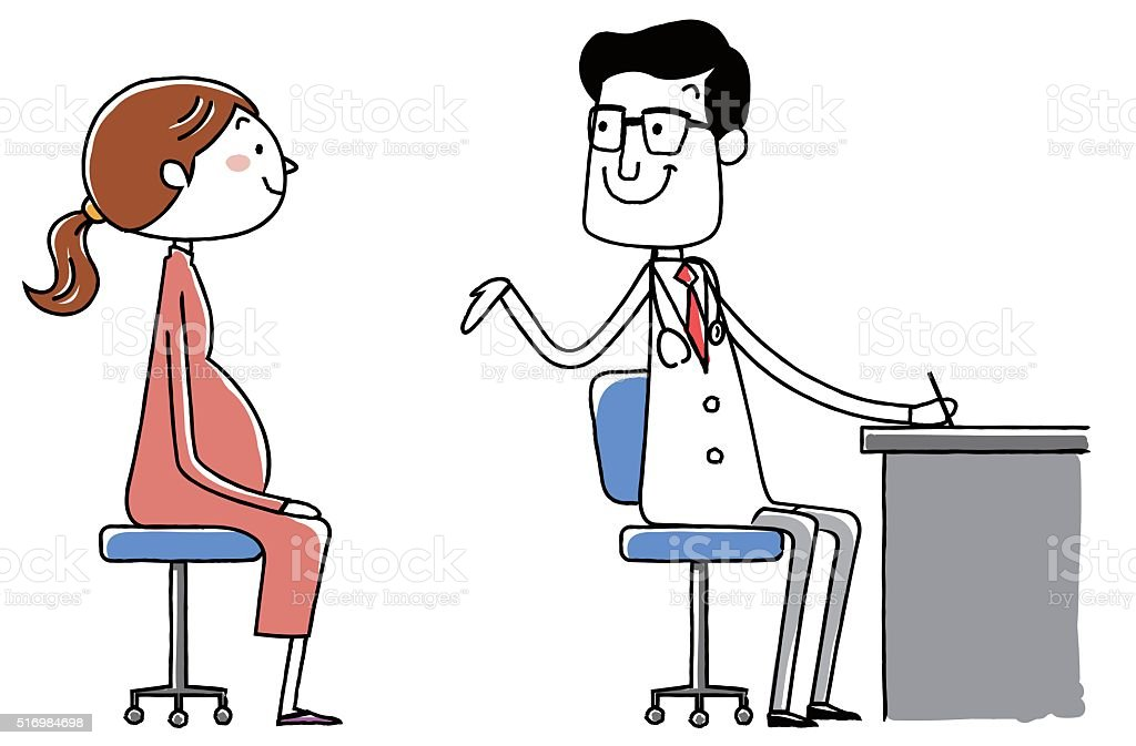 medical doctor. Examination of the pregnant woman. vector illustration. vector art illustration