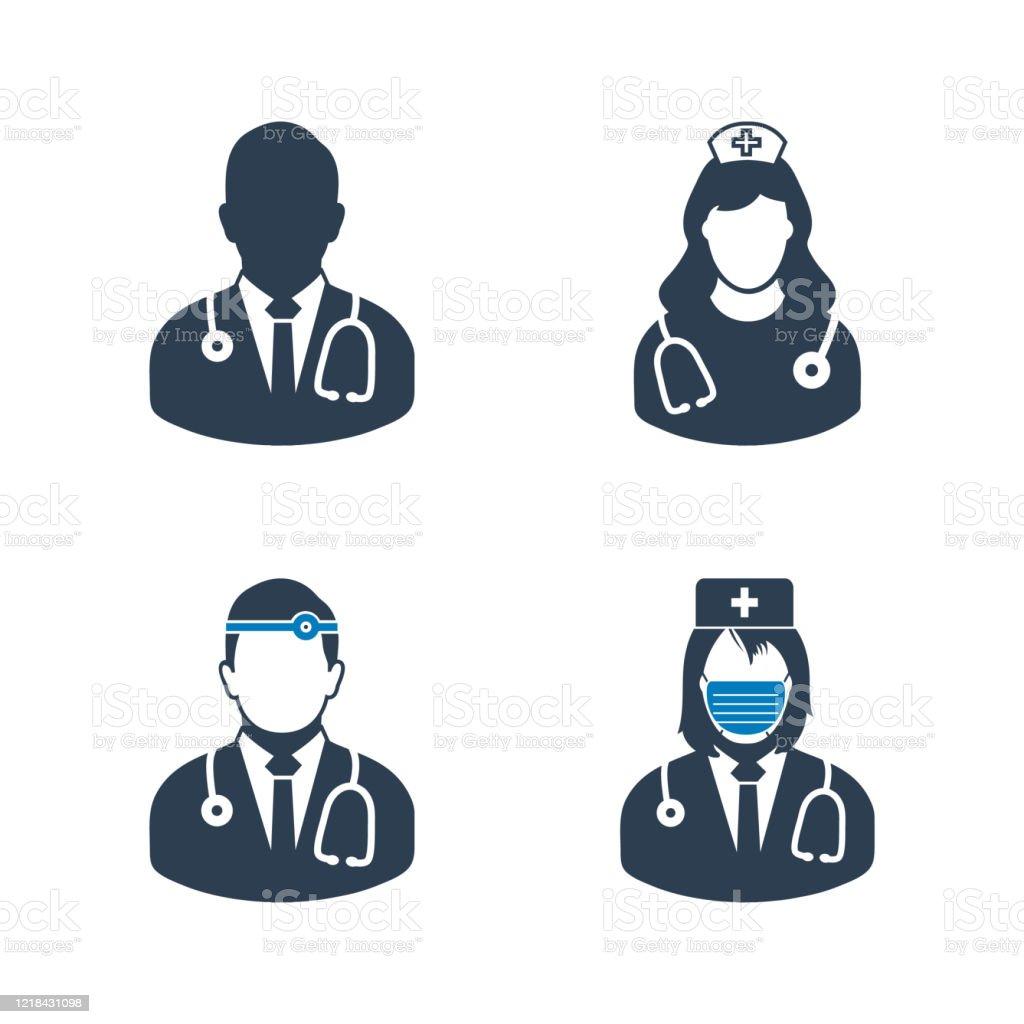 Medical Doctor Nurse Surgeon Icon Set Editable Vector Eps Symbol Illustration Arte Vetorial De Stock E Mais Imagens De Bangladesh Istock