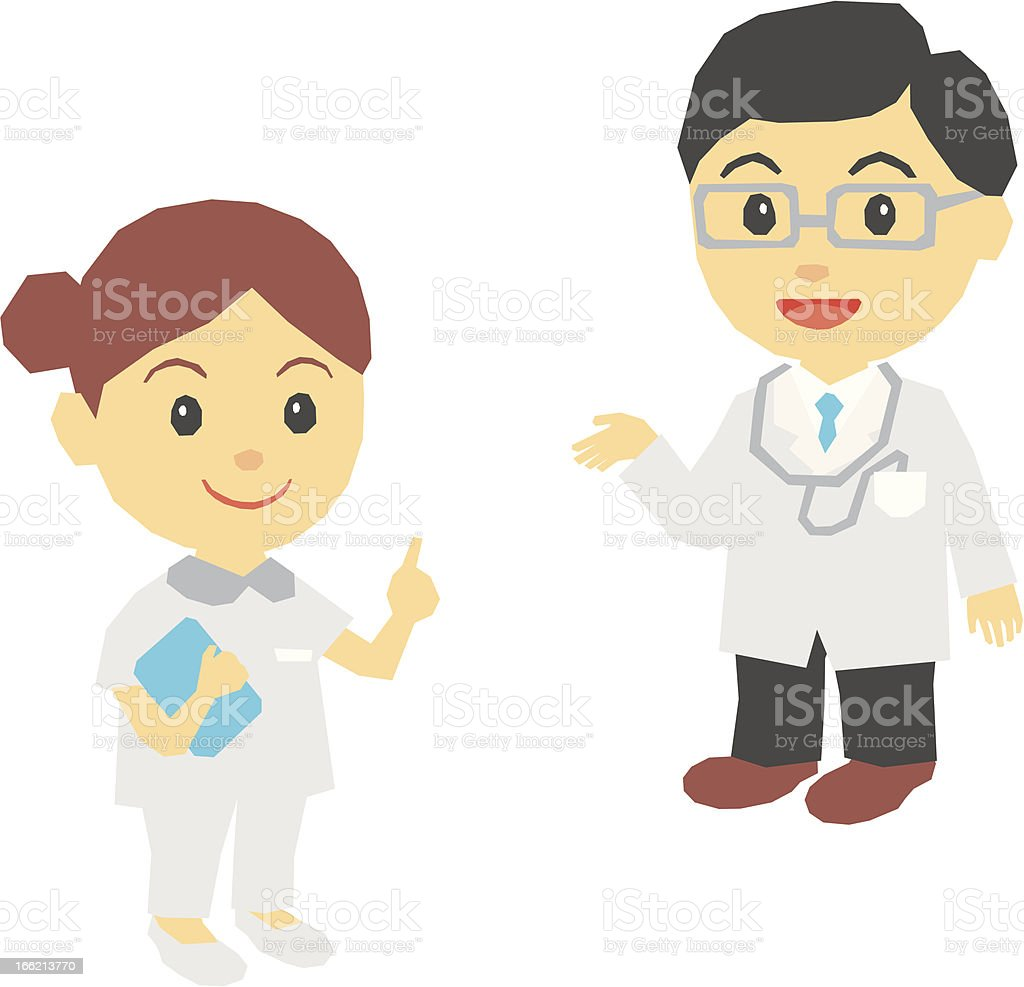 Medical doctor, nurse royalty-free stock vector art