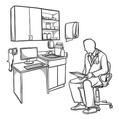 Medical Doctor Office Desk