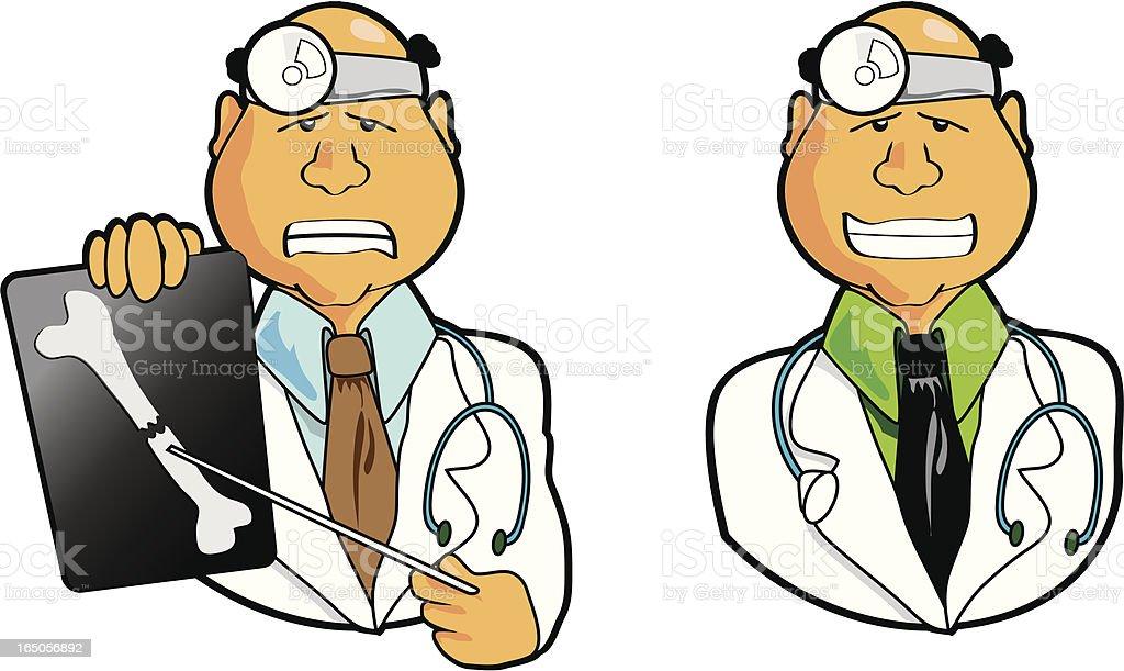 Medical Doctor Prognosis vector art illustration