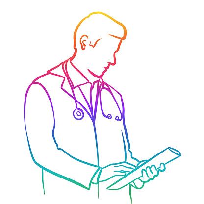 Medical Doctor Upper Body Rainbow