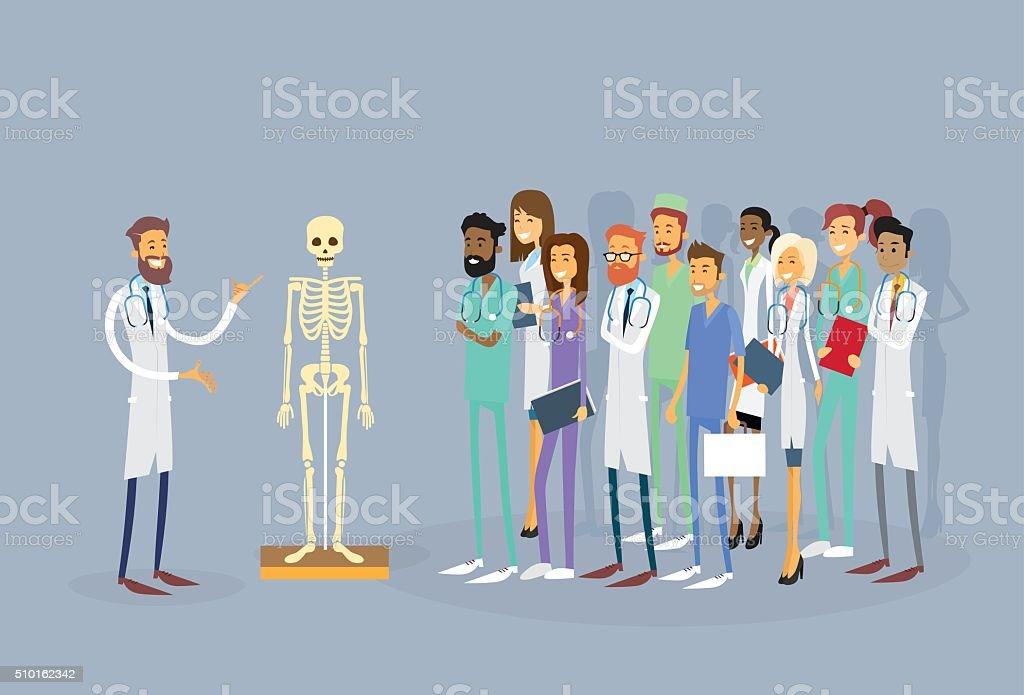 Medizinische Ärzte Gruppe Menschenpraktikant Vortrag Menschlichen ...
