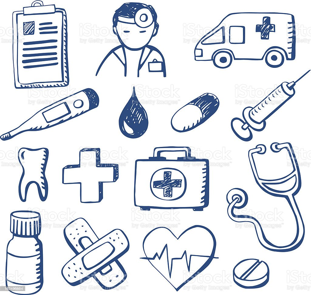 Medical Doodles royalty-free stock vector art