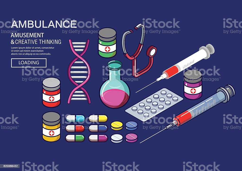 Medical drugs vector art illustration