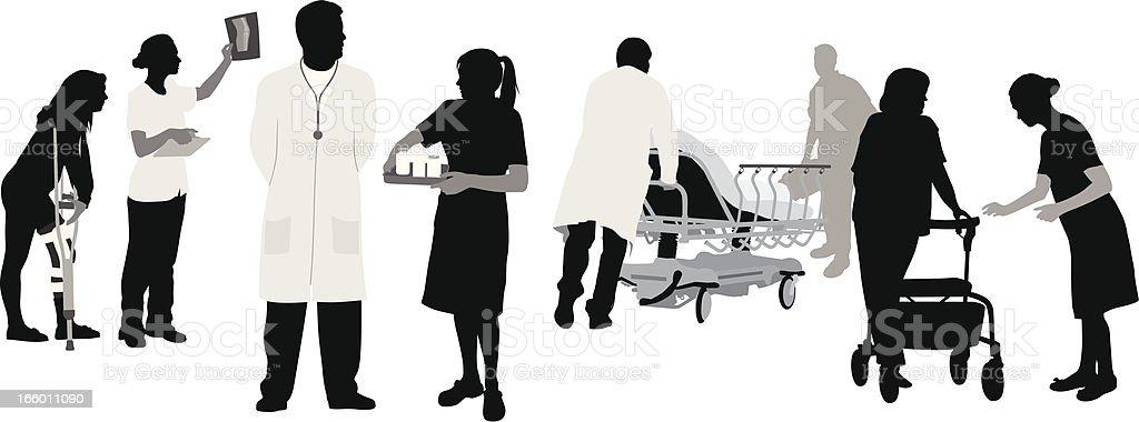 Medical Duties vector art illustration