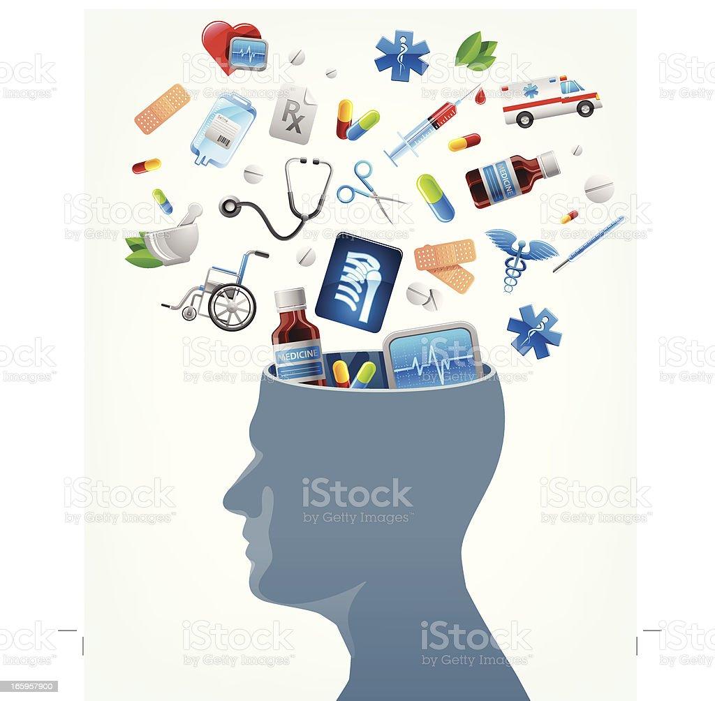 Medical education ideas royalty-free stock vector art
