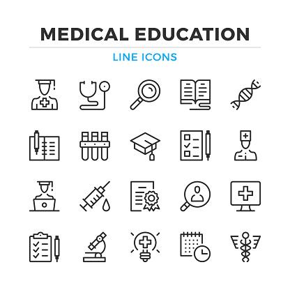 healthcare education stock illustrations