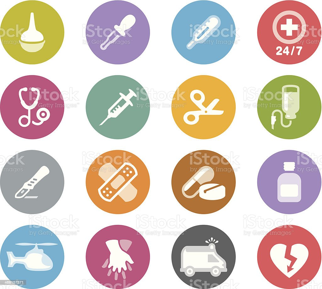 Medical Equipment  / Wheelico icons vector art illustration