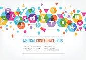 Medical event poster design.