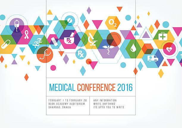 Medical event poster design vector art illustration