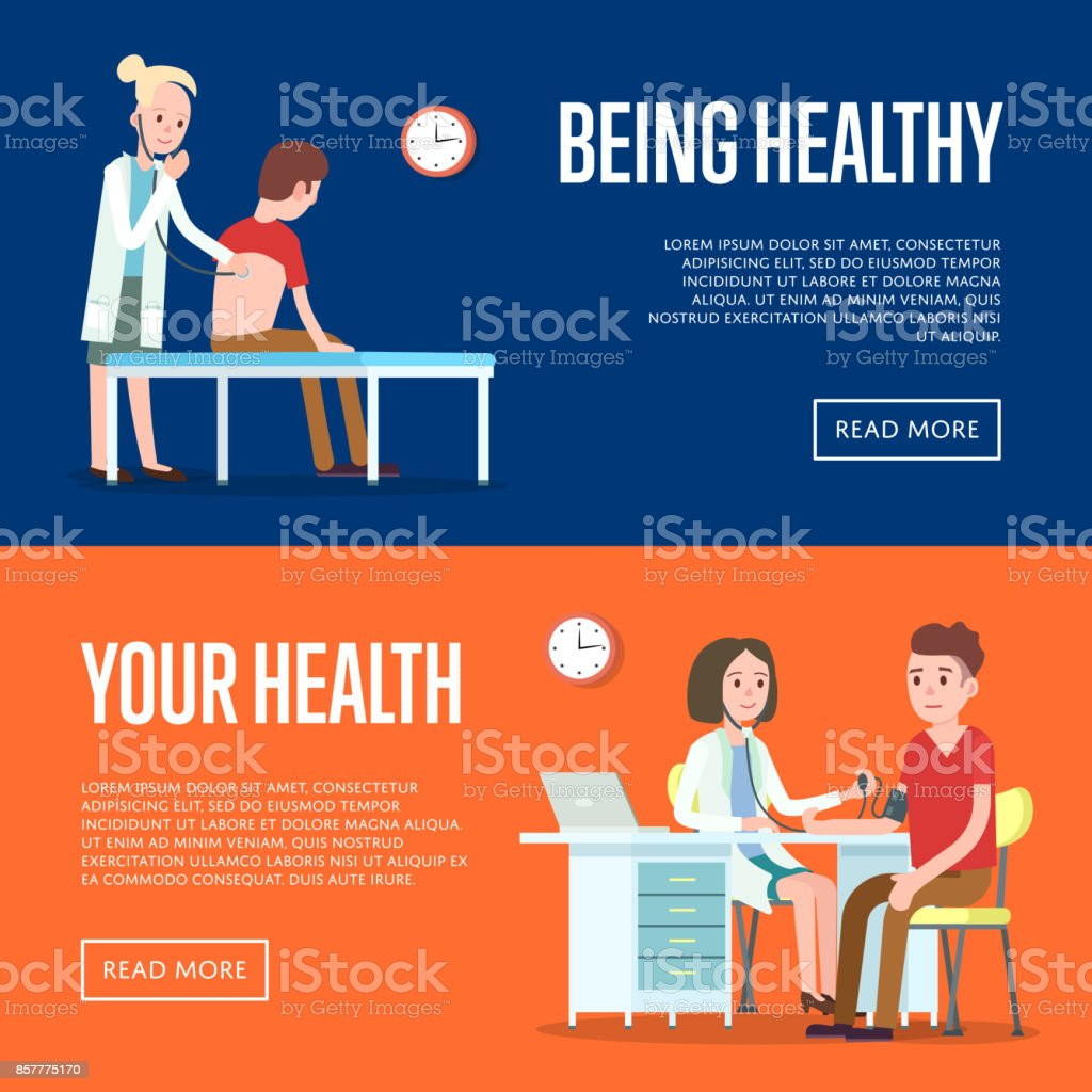 medical examination and healthcare posters stock vector art more