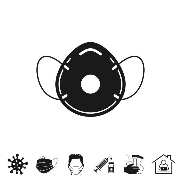 medizinische gesichtsmaske - ffp2, ffp3. symbol für design auf weißem hintergrund - ffp2 maske stock-grafiken, -clipart, -cartoons und -symbole