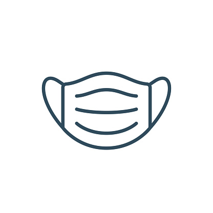 Medical Face Mask - Icon. Coronavirus vector illustration