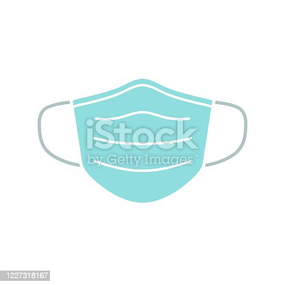 istock Medical face mask icon. n95 nose tissue corona virus protection surgical mask 1227318167