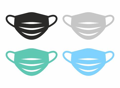 Medical face mask icon set.