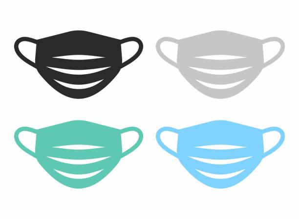 医療フェイスマスクアイコンセット。 - マスク点のイラスト素材/クリップアート素材/マンガ素材/アイコン素材