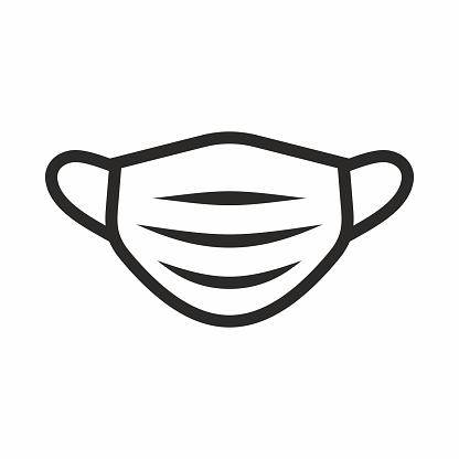 Medical face mask icon.