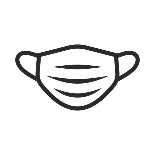 医療フェイスマスクアイコン。 - マスク点のイラスト素材/クリップアート素材/マンガ素材/アイコン素材