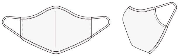Medical face mask vector template illustration / white vector art illustration