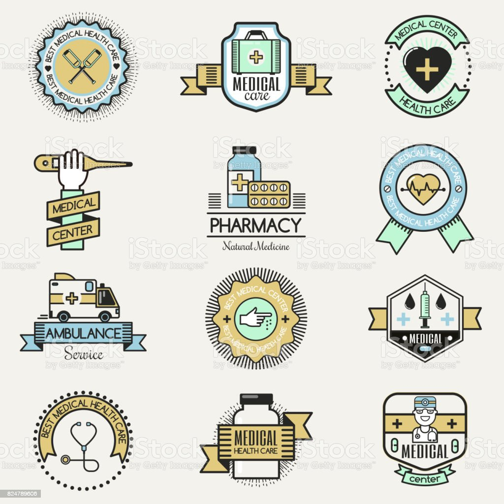 Medical Family Center Hospital Clinic Care Badge Design