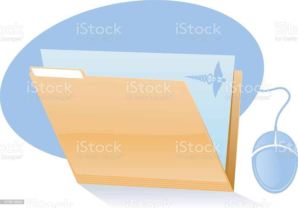 Medical File Icon royalty-free stock vector art