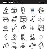 Medical Flat Design Icon Set - Illustration