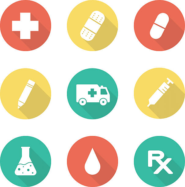 Royalty Free Medical Prescription With Red Rx Symbol And Cross Clip