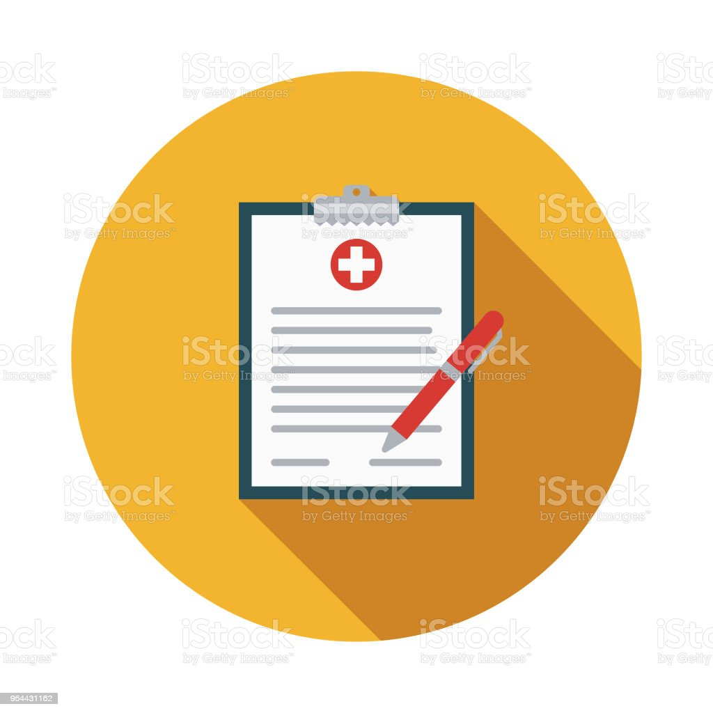 Medical Form Flat Design Medical Supplies Icon With Side