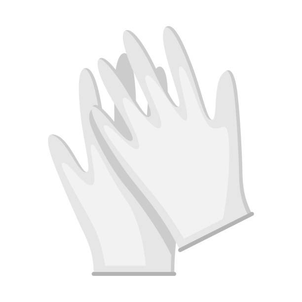 Medical gloves icon in flat style. Medical gloves icon in flat style. Medicine illustration isolated on white background. latex stock illustrations