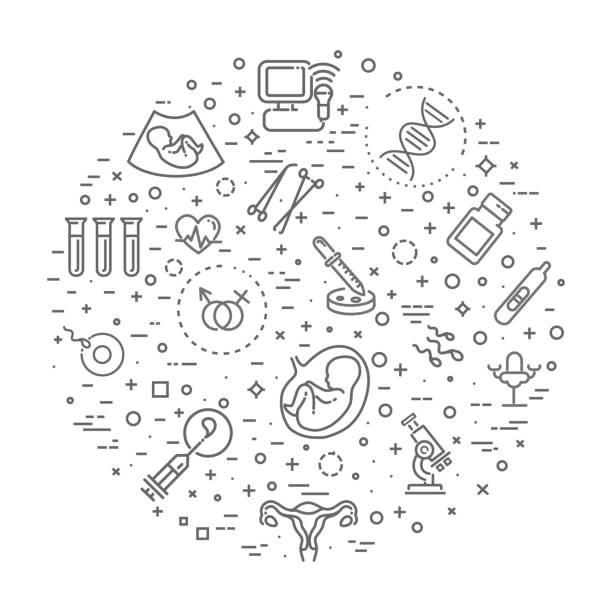 Medizinische, Gynäkologie-Banner-illustration – Vektorgrafik