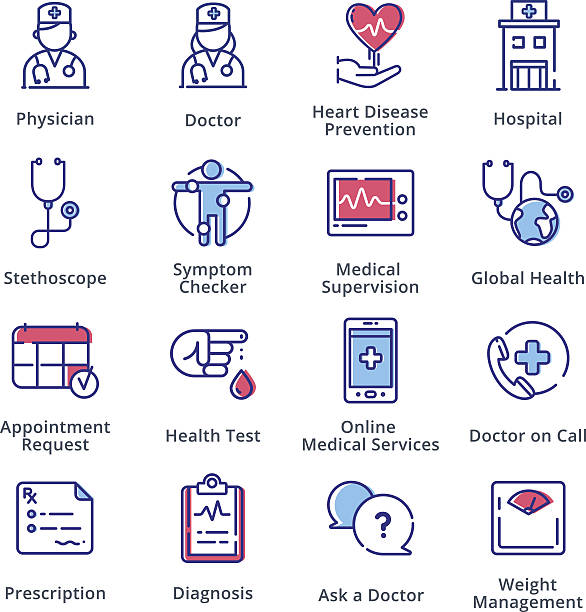 Medical & Health Care Icons Set 1 - Outline Series vector art illustration