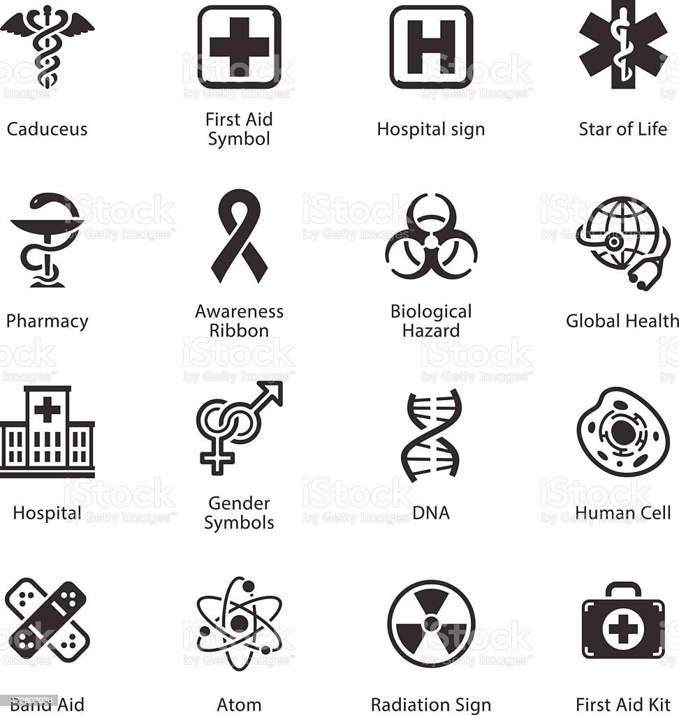 Medical Health Care Icons Set 1 Stock Vector Art More Images Of