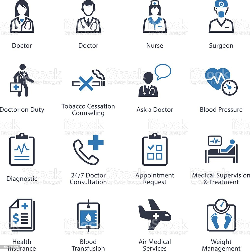 Medical & Health Care Icons Set 2 - Services vector art illustration