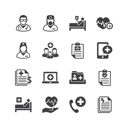 Medical & Health Care Services Icons clipart