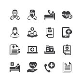 Hospital - Medical & Health Care Services Icons - Set 1