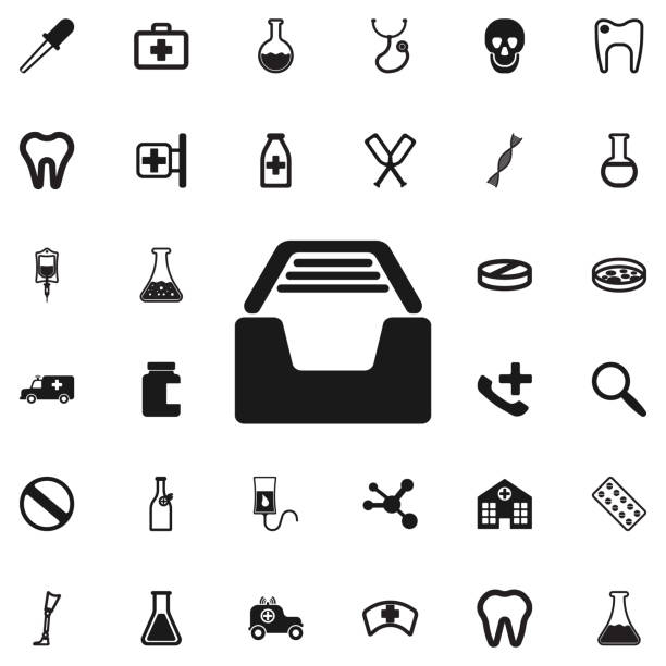Royalty Free Electronic Medical Record Clip Art, Vector